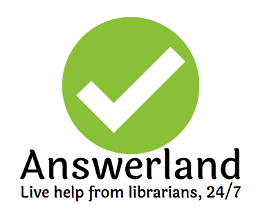 Answerland: Live help from librarians, 24/7