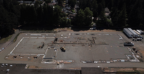 Aerial view of Brookwood construction site