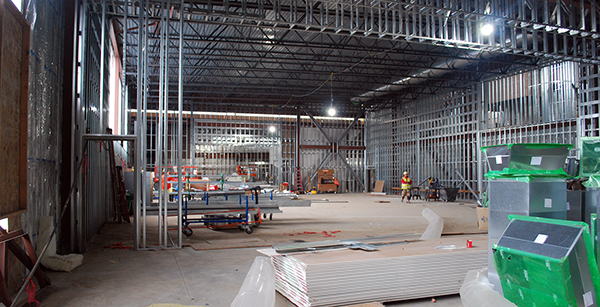 view of gym under construction