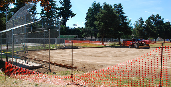 Jackson replacement ball field construction
