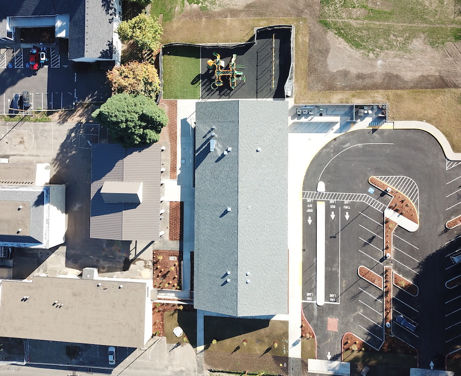 Aerial view of Reedville Elementary