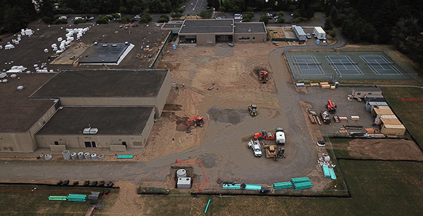 Aerial view of Evergreen project site