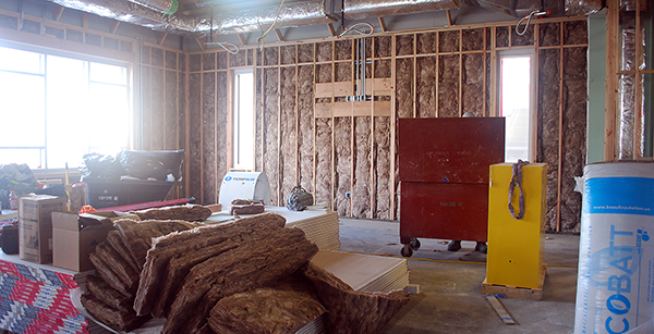 insulation in classroom walls