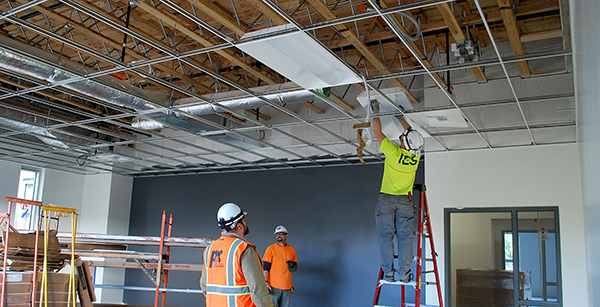 installation of ceiling fixtures