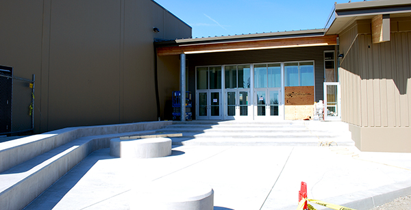 south entrance to media center