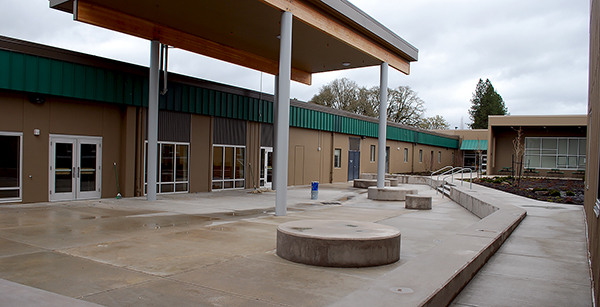 new courtyard