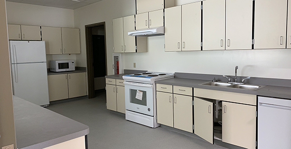 kitchen area in modular building