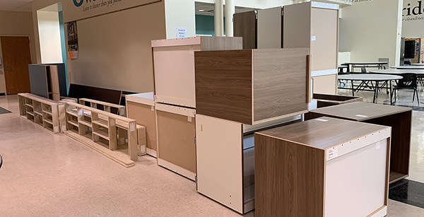 cabinetry for student store