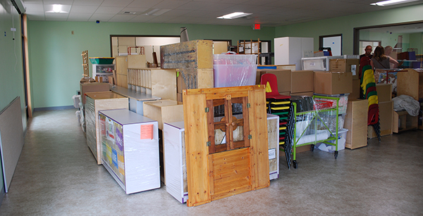 moving into preschool classroom