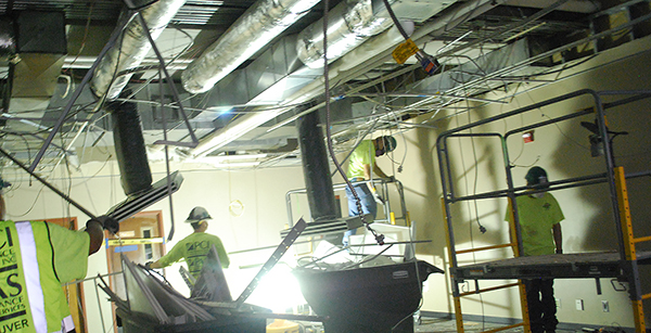 HVAC ductwork and wiring