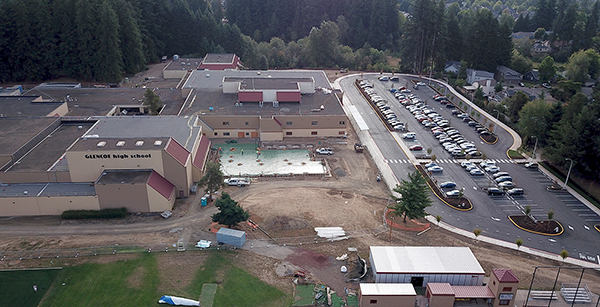 aerial view of the south campus