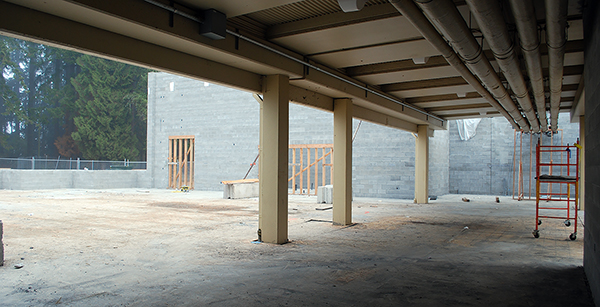 cafeteria addition hallway