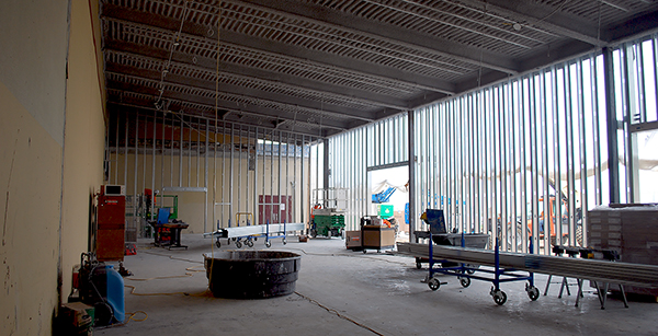 weight room addition framing