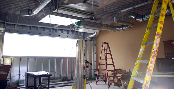 HVAC ductwork in team room