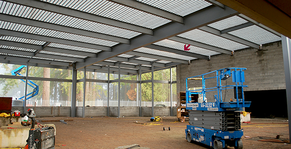 cafeteria addition under construction (view to north)