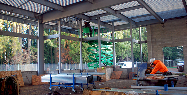 cafeteria addition construction