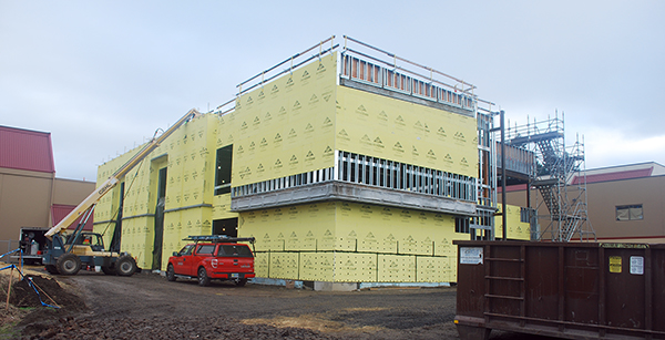 view of building sheathing
