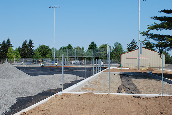 Work around softball field