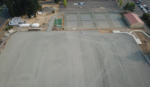 Glencoe turf field - base layer