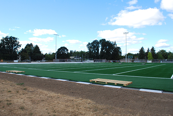 Ground view of Glencoe turf field