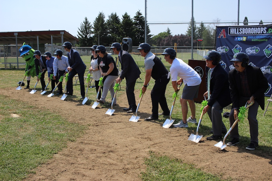 Glencoe turf groundbreaking