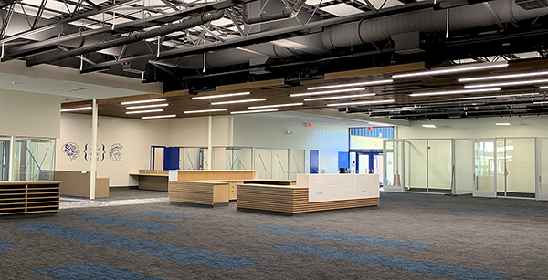 media center remodeling nearly complete