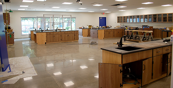 creative arts classroom nearing completion