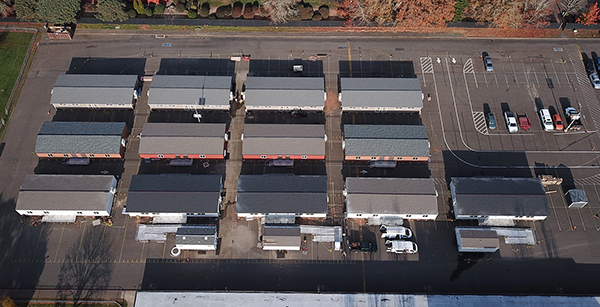 aerial view of portables