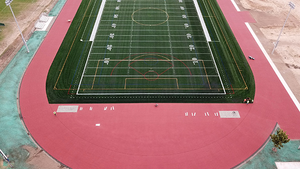Aerial view of Hilhi field
