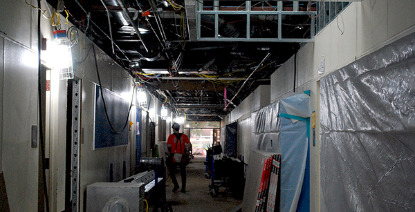 renovation of math and science building corridor