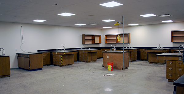 remodeled science classroom