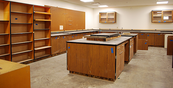 science lab cabinetry installation