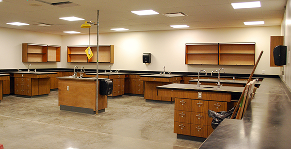 science lab cabinetry re-installation