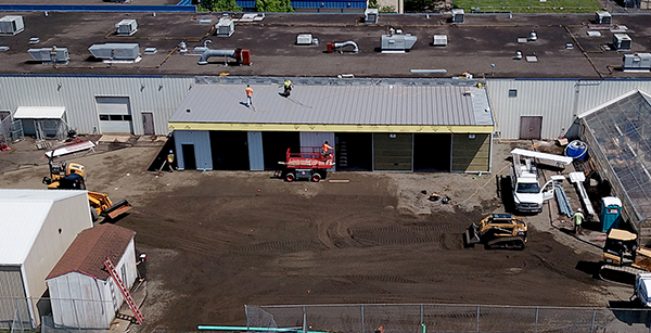 aerial view of auto tech expansion area