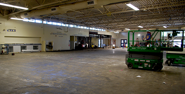 commons area under renovation