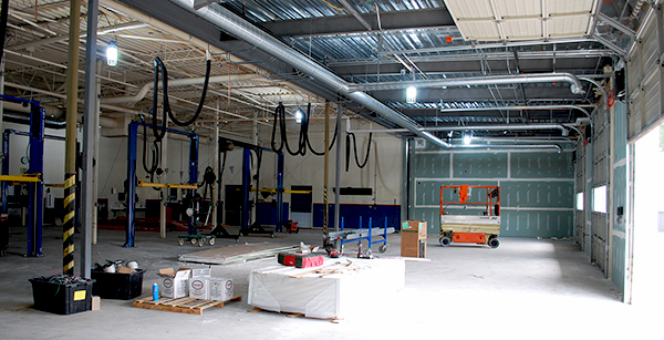 interior view of auto tech expansion
