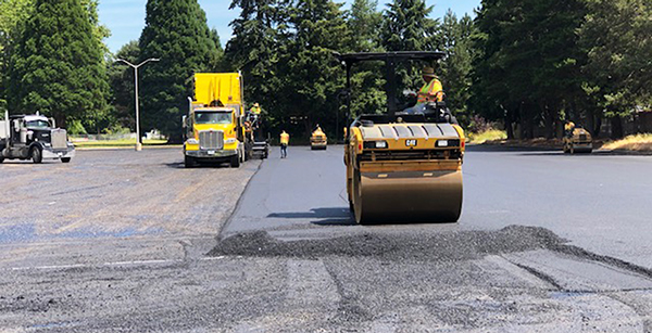 paving of student parking lot