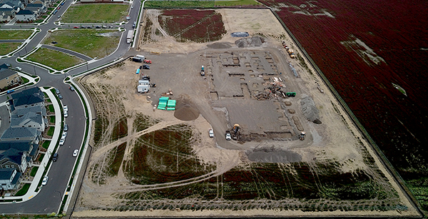 aerial view of site as of May 11