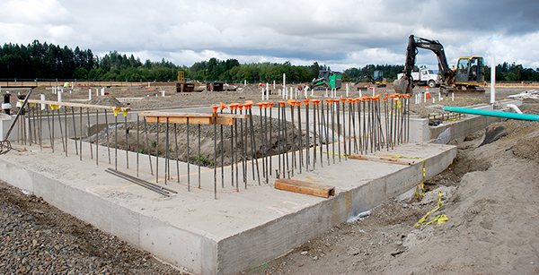 northeast footings of foundation