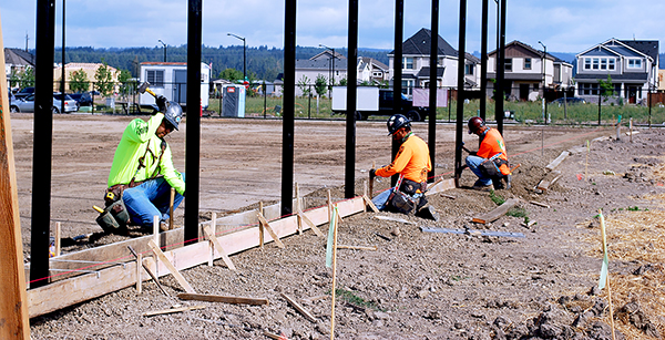 framing for curbs around fence posts