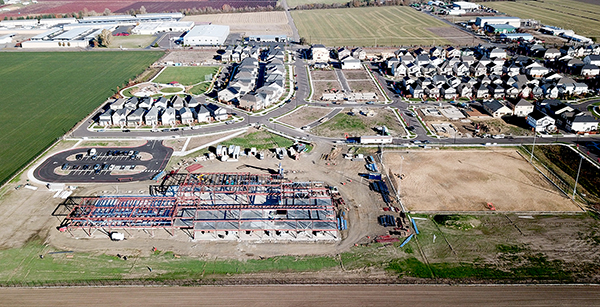 aerial view of AFES construction site