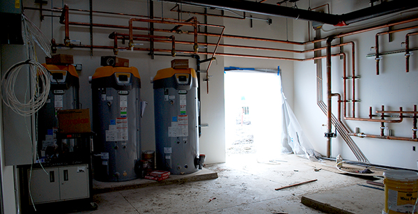 water heaters in utility room