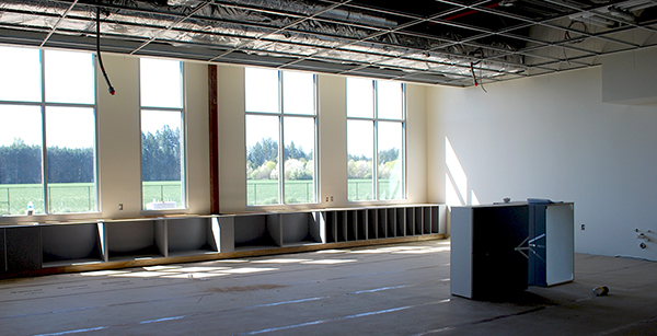 cabinetry installed in first-floor classroom