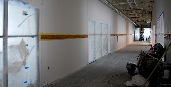 painting underway on second floor