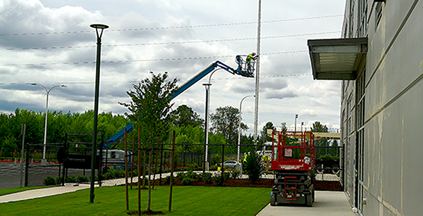 installation of flag pole