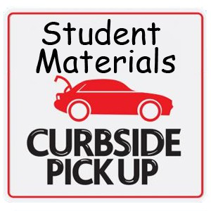 car with trunk open - student materials curbside pickup