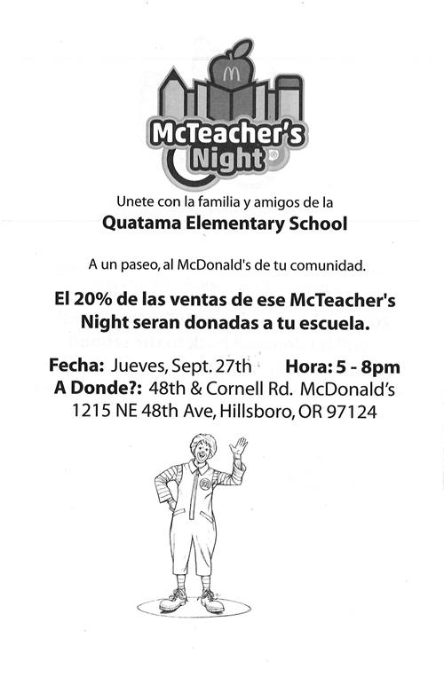 McTeacher Night Spa.