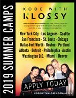 Kode with Klossy summer camp poster