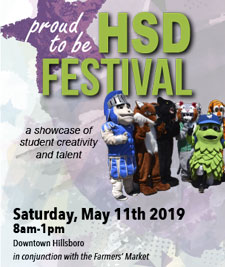 Hillsboro School District Festival - May 11, 2019, 8 a.m. to 1 p.m. Downtown Hillsboro