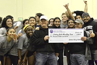 Century Wrestling Receives $1K from Hillsboro Optimists Club